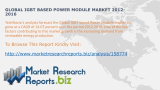 Global Modular IGBT based Power Module  Trends2012-2016:Mark