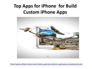 Top Apps for iPhone  for Build Custom iPhone