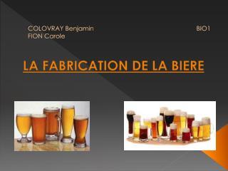 COLOVRAY Benjamin                                                           BIO1 FION Carole