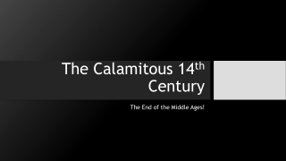 The Calamitous 14th century