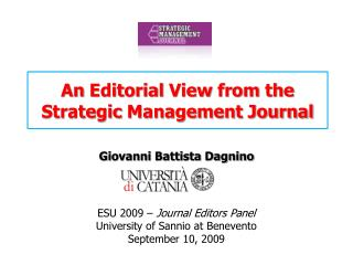 An Editorial View from the Strategic Management Journal