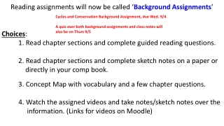 Concept Map 3 Notes