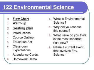 122 Environmental Science
