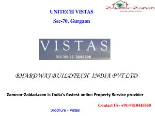 Unitech Vistas Residential Apartments in Sector 70