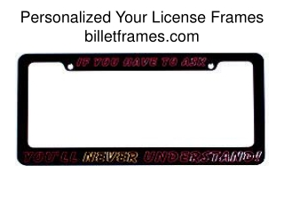 Customized License Plate Frames