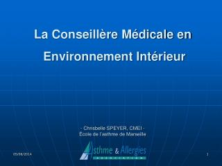 - Chrisbelle SPEYER, CMEI -    cole de l asthme de Marseille