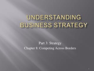 Understanding Business Strategy