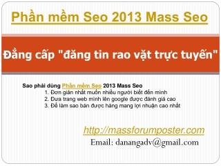 phần mềm seo 2013 mass seo
