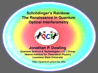 Schr dinger s Rainbow:  The Renaissance in Quantum Optical Interferometry