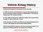 Vehicle Airbag History