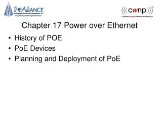 Chapter 17 Power over Ethernet
