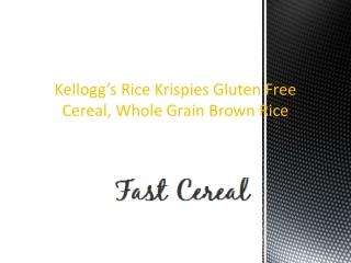 Kelloggs Rice Krispies Gluten Free Cereal