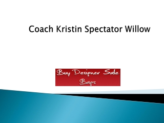 Coach Kristin Spectator Willow