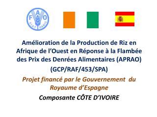 Am lioration de la Production de Riz en Afrique de l Ouest en R ponse   la Flamb e des Prix des Denr es Alimentaires APR
