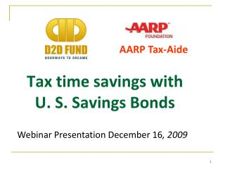 Tax time savings with U. S. Savings Bonds