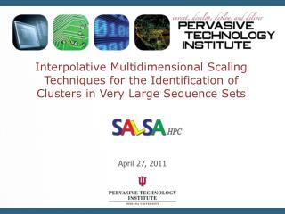 Interpolative Multidimensional Scaling Techniques for the Identification of Clusters in Very Large Sequence Sets