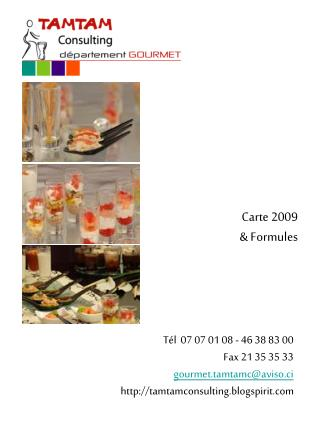 Carte 2009   Formules