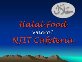 Halal Food where NJIT Cafeteria