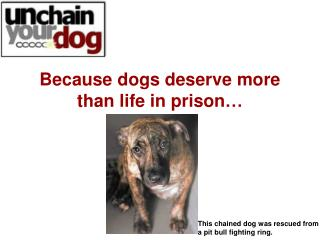Why is chaining dangerous to people