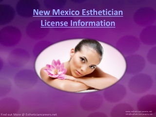 New Mexico Esthetician License Information