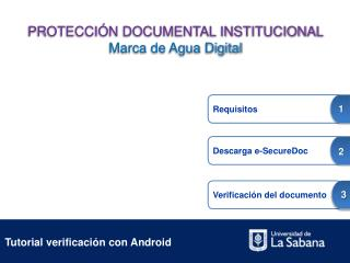 Tutorial verificaci n con Android