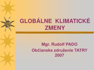 GLOB LNE  KLIMATICK  ZMENY