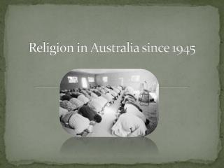 Religion in Australia since 1945