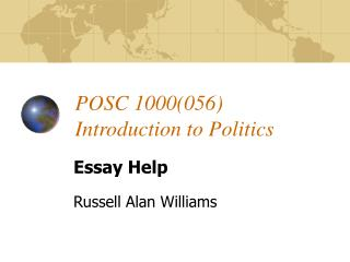 POSC 1000056 Introduction to Politics
