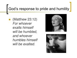 God s response to pride and humility
