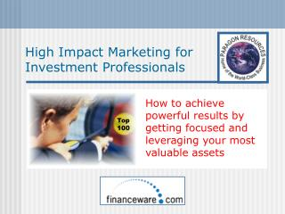 High Impact Marketing for Investment Professionals