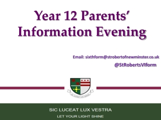 Work experience Parents  evening presentation