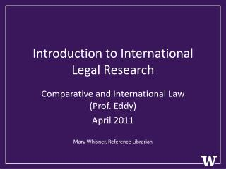 Introduction to International Legal Research