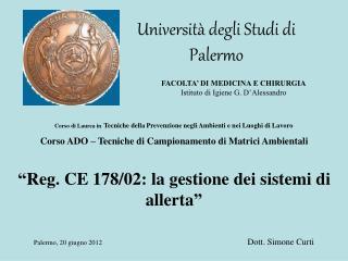 Universit  degli Studi di Palermo