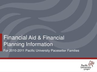 Financial Aid  Financial Planning Information