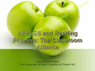 APPLES and Reading Partners: The Classroom Alliance