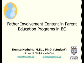 Father Involvement Content in Parent Education Programs in BC