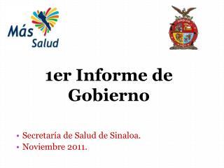 Secretar a de Salud de Sinaloa. Noviembre 2011.