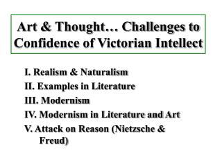 Art  Thought  Challenges to Confidence of Victorian Intellect