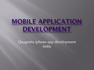 Quagnitia iphone app development india
