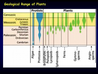 Geological Range of Plants