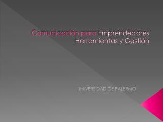 Comunicaci n para Emprendedores Herramientas y Gesti n