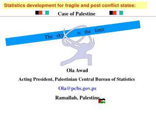 Ola Awad Acting President, Palestinian Central Bureau of Statistics  Olapcbs.ps Ramallah, Palestine