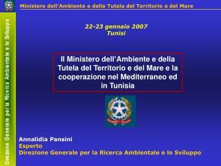 Annalidia Pansini Esperto Direzione Generale per la Ricerca Ambientale e lo Sviluppo