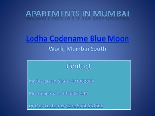 Presentation of Lodha Codename Blue Moon