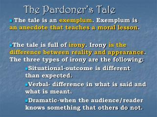 The Pardoner s Tale