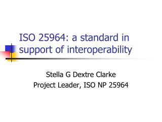 ISO 25964: a standard in support of interoperability