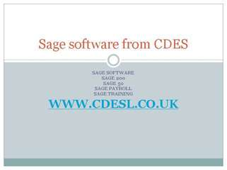 sage 50 - sage accounting software from cdes limited