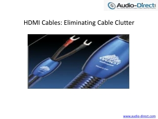Audioquest HDMI Cables