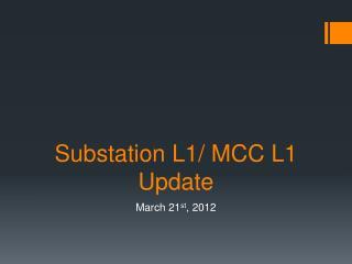 Substation L1