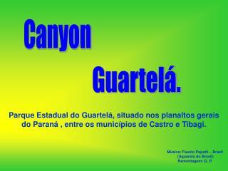 Parque Estadual do Guartel , situado nos planaltos gerais  do Paran  , entre os munic pios de Castro e Tibagi.